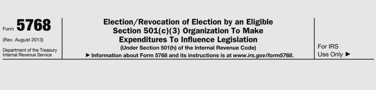Taking the 501(h) election | National Council of Nonprofits