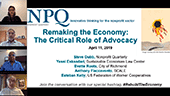 Remaking the Economy: The Critical Role of Advocacy