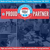National Voter Registration Day Proud Partner