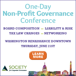 Society for Corporate Governance ad